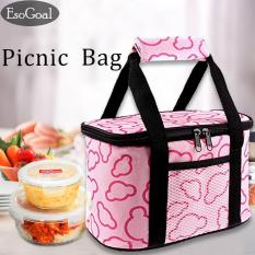 Harga Esogoal Lunch Box Reusable Insulated Lunch Bag Cooler Bag Leakproof Liner Container For Travel Work Office Sch**l Gym Tiongkok