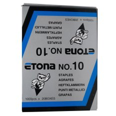 Etona Staples Chisel Pointed No. 10 [1 Pack / 20 Pcs]
