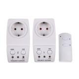Beli Eu Remote Kontrol Outlet 2 Pack Daya Ac Soket Saklar Lampu Terbaru