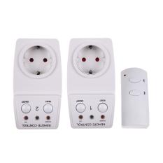 EU Remote Kontrol Outlet. 2 Pack Daya AC Soket Saklar Lampu