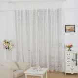 Jual European Style Jacquard Design Home Decoration Modern Curtain Tulle Fabrics Organza Sheer Panel Window White Import