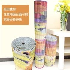 Bergaya Eropa Non-slip Mat Tikar Busa Lantai Mat Ruang Tamu Meja Kopi Karpet Kamar Tidur Plastik Doormat Jahitan Mat Tikar-Intl