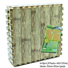 Diskon Besarevamat Alas Lantai Puzzle Motif Bambu Muda 60Cm X 120Cm