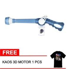 EZ Jet Water Canon Pressure / Alat Penyemprot Air - Biru + Gratis Kaos Motor 3D 1 Pcs
