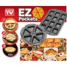 EZ Pockets Teflon Besar Cetak Pizza Apple Pie Cake Martabak Wajan Unik