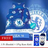 Jual Ezpata Sprei California Ukuran 120X200X22 5Cm Motif Chelsea Free 1Pc Handuk Dan 1Psg Kaos Kaki Online Di Indonesia