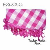 Toko Ezpata Taplak Meja Makan Kain Tenun Pinggiran Rajut Benang Ukuran 134X192Cm Pink Online Jawa Timur
