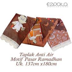 Ezpata Taplak Meja Makan Plastik PVC Motif Pasar Ramadhan ukuran 137x183cm