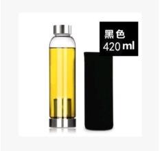Toko Ezy Botol Minum Kaca Infuser 420Ml Hitam Ezy Online