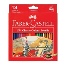 Jual Faber Castell Pensil Warna Classic Colour Pencils Long 24 Pcs Satu Set