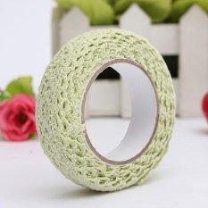 Fabric Lace Washi Tape Ribbon Cotton Trim Self Adhesive Shabby Chic Pastel Green - intl
