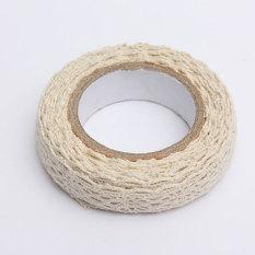 Kain Renda Washi Tape Pita Perekat Hiasan Katun Lusuh Chic Pastel Mentah Putih