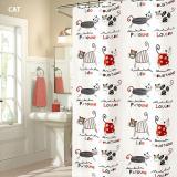 Spesifikasi Family Choice Tirai Kamar Mandi Shower Cat Anti Air Dengan Pengait Murah