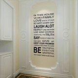 Harga Aturan Stiker Dinding Rumah Keluarga Seni Dekorasi Rumah Anak Vinil Yang Dapat Dilepas Oem Tiongkok