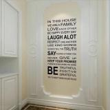 Harga Aturan Stiker Dinding Rumah Keluarga Seni Dekorasi Rumah Anak Gaya Vinil Yang Dapat Dilepas Not Specified Terbaik