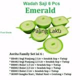 Harga Hemat Family Set Asvita Set Emerald Set Wadah Saji Makanan Set Hijau