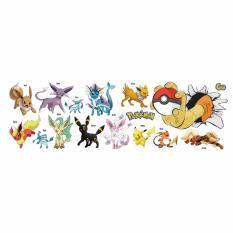 Fancyqube Kartun Pokemon Wall Stiker untuk Anak-anak Kamar Rumah Dekorasi Pikachu Wall Decal Poster Wall Art Poster Anak Grosir- INTL