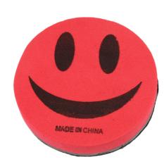 Fancyqube Fashion Ekonomi Smile Face Penghapus Kapur Merah/Hitam
