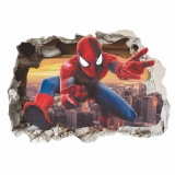 Harga Fancyqube Baru Fashion 3D Super Hero Spider Man Mural Vinyl Wall Decal Stiker Internasional Paling Murah