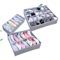 Spesifikasi Fancytoy 3 X Lipat Tas Kotak Penyimpanan With Penutup Dasi Kaos Kaki Pakaian Dalam Bh Dan Harga