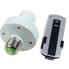 Jual Fang Fang E27 Scr*w Wireless Remote Control Lampu Lampu Bulb Holder Cap Socket Switch Putih Branded