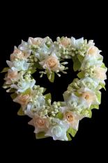 Fang Fang Menjual Romantis Berbentuk Hati Sutra Bunga Rumah Pesta Pernikahan Dekorasi Color2 (Multi Warna
