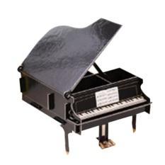 Fangfang DIY Pen Storage Box Makeup Organizer Home Office Desk Stationery Wooden Rack Piano - intl