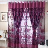 Harga Fashion 250 Cm 100 Cm Cetak Floral Voile Door Curtain Window Room Curtain Divider Scarf Ungu Tua Internasional Oem Terbaik