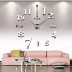 Katalog Fashion 39 Diy Besar Cermin Akrilik Jam Dinding 3D Desain Bilangan Sticker Dekorasi Rumah Internasional Terbaru