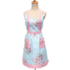 Review Terbaik Fashion Gaun Bunga Saku Celemeknya Memeriksa Restoran Kue Dapur Memasak Panas 09