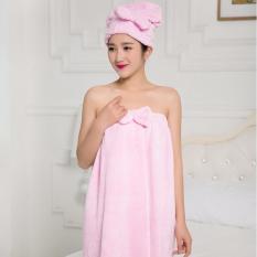 Spesifikasi Fashion Baju Handuk Kimono Mandi Set Plus Topi Dan Harganya