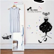Fashion Butik Dekorasi My Dress Wall Stiker Decals Art PVC Poster Dinding-Intl