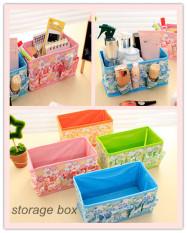 Fashion Brand New Folding Multifungsi Make Up Kosmetik Penyimpanan   Kotak Tas Wadah (Hijau)