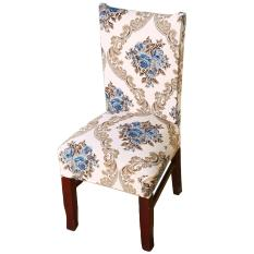 Fashion Chair Cover One-piece Stretch Removable Washable Printed Soft Polyester Fiber Wrinkle Resistant Chair Seat Protector Slipcover for Home Office Hotel Wedding Banquet Meeting Celebration Dinning Room Decoration Style D - intl