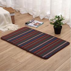 Mode Warna Stripe Dicetak Keset Pintu Masuk Slip-Resistant Karpet Kamar Tidur Menyerap Air Tikar