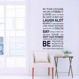 Jual Cepat Desain Busana Bahasa Inggris Keluarga Kutipan Amsal Wall Stiker Dekorasi Seni Kamar Removable Dibetulkan