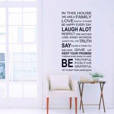 Ulasan Mengenai Desain Busana Bahasa Inggris Keluarga Kutipan Amsal Wall Stiker Dekorasi Seni Kamar Removable Dibetulkan