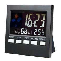 Fashion Baru Multifungsi Termometer Elektronik dan Hygrometer dengan Alarm Clock Weather Station