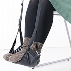 Jual Fashion Portable Cotton Knitted Footrest Flight Carry On Foot Hammock Office Foot Stand Desk Feet Rest Intl Branded