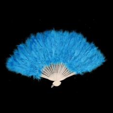 Penggemar Bulu Folding Dance Hand Fan-Intl