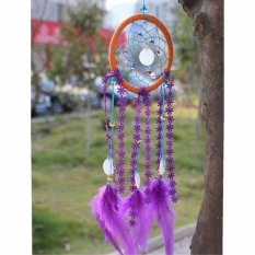 Feather Handmade Dream Catcher The Heirs Sama Gaya Hiasan Dinding Dekorasi Ornamen (Crystal Bead)-Intl