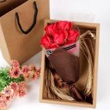 Harga Festival Hadiah Tangan Bouquet Sabun Bunga Kotak Hadiah Merah Intl