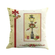 Finleystore Christmas Printing Dyeing Sofa Bed Home Decor Pillow Cover Cushion Cover - intl