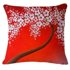 Finleystore Daun Pohon Sofa Bed Rumah Dekorasi Festival Sarung Bantal-Internasional