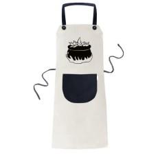 Fire Happy Fear Halloween Cooking Kitchen Beige Adjustable Bib Apron Pocket Women Men Chef Gift - intl