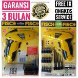 Review Fisch 3 6V Cordless Screwdriver 1Set Mesin Bor Obeng Elektrik Portabel Tanpa Kabel 100 Original Ahim