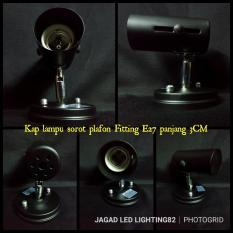 Fitting Kap Lampu Sorot E27 L Kap Lampu Spot Light L Rumah Lampu Sorot Lukisan  Body Hitam Kwalitas Premium
