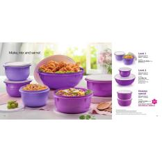 Mangkok Saji Tupperware Fix & Mix Set (6)