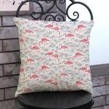 Jual Flamingo Painting Linen Cushion Cover Lempar Pinggang Bantal Sofa Dekorasi Rumah D Intl Viviroom Murah