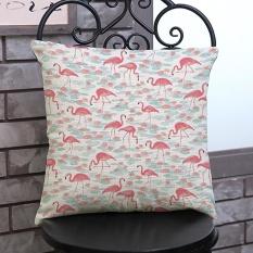 Perbandingan Harga Flamingo Painting Linen Cushion Cover Lempar Pinggang Bantal Sofa Dekorasi Rumah D Intl Di Tiongkok